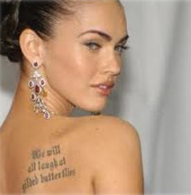 tatouage megan fox