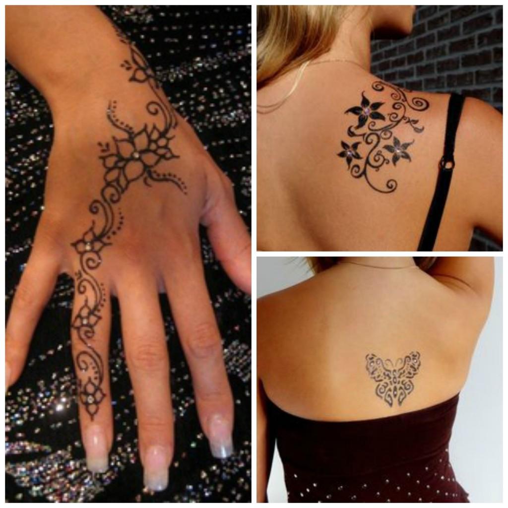 tatouage temporaire strass