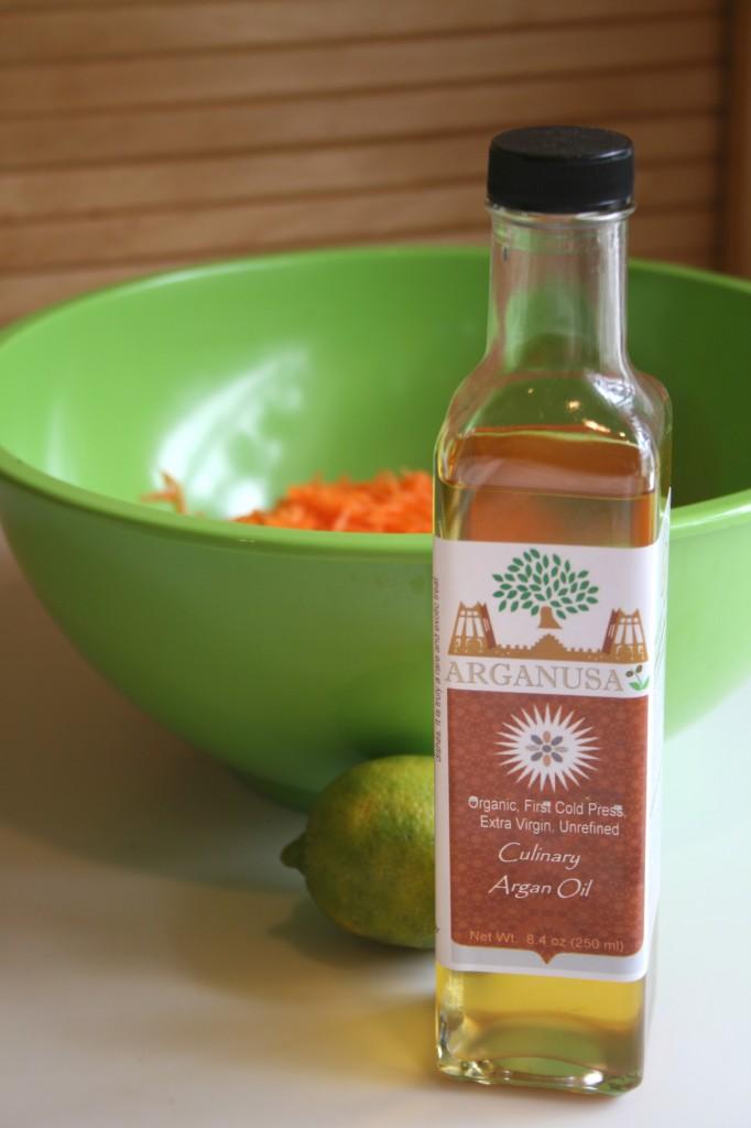 huile d'argan salade