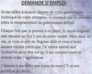 fail lettre de motivation