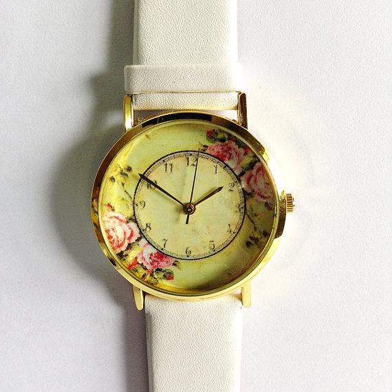 montre en cuir de Style Vintage, montres femmes