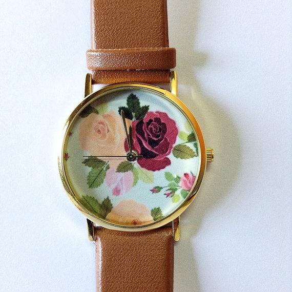 Vintage, victorien en cuir montre, montre femmes