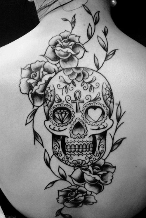 tatouage old school crane mexicain