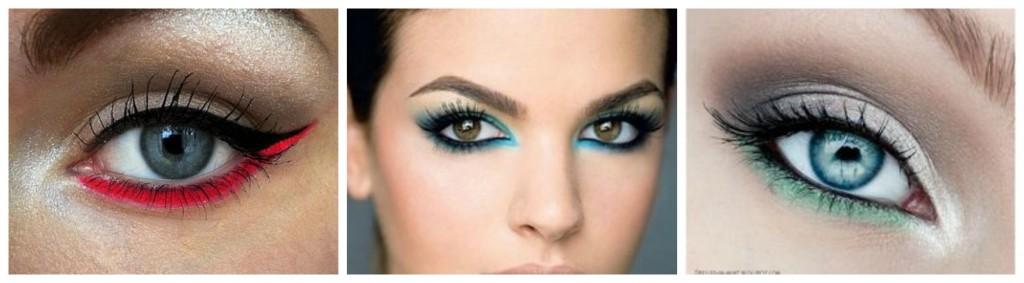 maquillage de fete liner colore