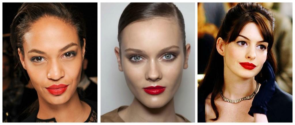 maquillage de fete rouge a levres