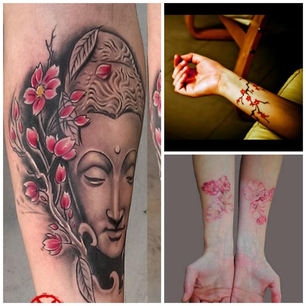 Un air de printemps japonais avec un tatouage de *fleurs de cerisier*... - Mademoiselle Web