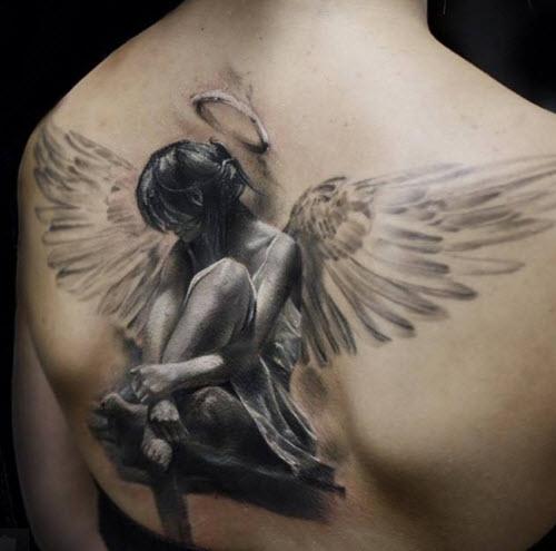 tatouage ange dos 2